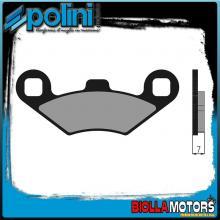 174.0157 PASTIGLIE FRENO POLINI ANTERIORE POLARIS ATV SPRTSMAN 6x6 800CC 2002- ORGANICA