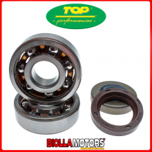 KK01001 SET CUSCINETTI MINARELLI AM6 SKF C3 ALTISSIMA VELOCITA' gabbia in teflon + paraoli TOP PERFORMANCE