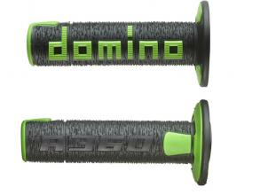 A36041C4044A7-0 COPPIA MANOPOLE DOMINO NERO/VERDE OFF ROAD