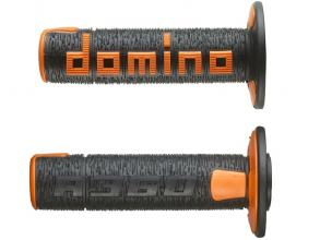 A36041C4045A7-0 COPPIA MANOPOLE DOMINO NERO/ARANCIONE OFF ROAD