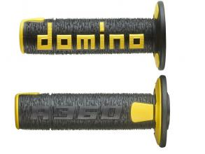 A36041C4047A7-0 COPPIA MANOPOLE DOMINO NERO/GIALLO OFF ROAD