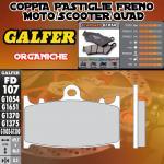 FD107G1054 PASTIGLIE FRENO GALFER ORGANICHE ANTERIORI KAWASAKI VN 1700 VOYAGER CUSTOM ABS 11-