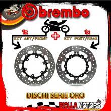 BRDISC-4077 KIT DISCHI FRENO BREMBO KTM LC8 ADVENTURE R 2010-2012 990CC [ANTERIORE+POSTERIORE] [FLOTTANTE/FLOTTANTE]