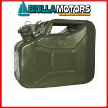 4021010 TANICA METAL 10LT Taniche Military per Carburante