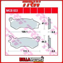 MCB833 PASTIGLIE FRENO ANTERIORE TRW Peugeot 50 DjangoEvasion,Allure,Sport 2014- [ORGANICA- ]
