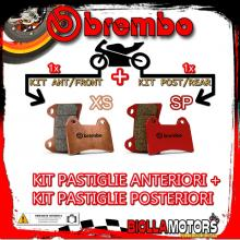 BRPADS-48167 KIT PASTIGLIE FRENO BREMBO PEUGEOT SATELIS RS 2011- 250CC [XS+SP] ANT + POST