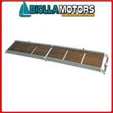 0607518 PASSERELLA PIEG 180 ALU/CARAB Passerella Pieghevole in Alluminio e Carabottino