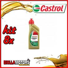 KIT 8X LITRO OLIO CASTROL POWER 1 SCOOTER 4T 5W40 - 8x CA154F88
