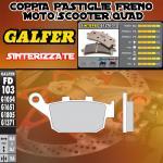 FD103G1371 PASTIGLIE FRENO GALFER SINTERIZZATE POSTERIORI KREIDLER NAKED 125 DD LEFT/IZQ. 08-