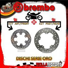 BRDISC-641 KIT DISCHI FRENO BREMBO GILERA RUNNER ST 2008- 125CC [ANTERIORE+POSTERIORE] [FISSO/FISSO]