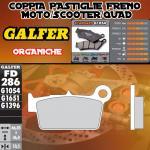 FD286G1054 PASTIGLIE FRENO GALFER ORGANICHE POSTERIORI SUZUKI RM 250 Z 04-06