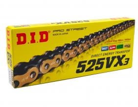 401547124 DID VX3 TRANSMISSION CHAIN PITCH 525- LINKS 124 X-RING G&B
