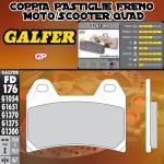 FD176G1300 PASTIGLIE FRENO GALFER GP ANTERIORI HYOSUNG AQUILA 700 GV i 10-