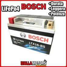 LTX16-BS BATTERIA LITIO BOSCH YTX16-BS LifePo4 0986122624 YTX16BS MOTO SCOOTER QUAD CROSS