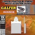 FD152G1054 PASTIGLIE FRENO GALFER ORGANICHE ANTERIORI PIAGGIO 50 VESPINO F9 FAST RIDER 93-