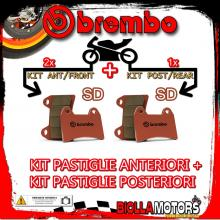BRPADS-25124 KIT PASTIGLIE FRENO BREMBO POLARIS RANGER RZR 2009- 170CC [SD+SD] ANT + POST