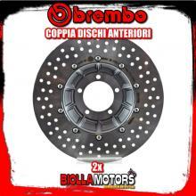 2-78B408B1 COPPIA DISCHI FRENO ANTERIORE BREMBO KTM SUPER DUKE GT 2016- 1290CC FLOTTANTE