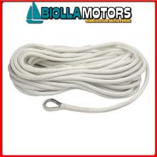 3101459 MOORING LINE WHITE 10MM X 6M< Treccia Mooring Bianco con Redancia