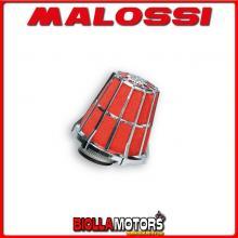 047729.K0 FILTRO ARIA MALOSSI E5 CON D. 43 BSV AX 50 PER CARBURATORI PHBL 25 CROMATO -