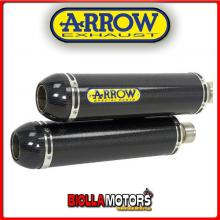 71062DK MARMITTE ARROW ROUND-SIL DUCATI MONSTER S4R 2003-2006 CARBONIO/CARBONIO