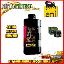 KIT TAGLIANDO 4LT OLIO ENI I-RIDE 10W60 TOP SYNTHETIC BMW 1000 HP4 K42 1000CC 2013-2016 + FILTRO OLIO HF160