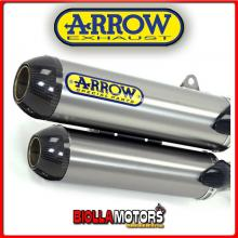 71662RK MARMITTE ARROW ROUND-SIL DUCATI MONSTER S4R 2003-2006 TITANIO/CARBONIO