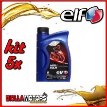 KIT 5X LITRO OLIO ELF MOTO 2 TECH 2T 100% SINTETICO - 5x 201732