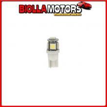 98325 LAMPA 24/28V HYPER-LED 15 - 5 SMD X 3 CHIPS - (T10) - W2,1X9,5D - 2 PZ - D/BLISTER - ARANCIO - DOPPIA POLARIT?