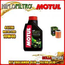 KIT TAGLIANDO 4LT OLIO MOTUL 5100 10W40 APRILIA RSV 1000 Mille 1000CC 1999-2004 + FILTRO OLIO HF152