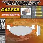 FD352G1380 PASTIGLIE FRENO GALFER SINTERIZZATE POSTERIORI YAMAHA SP 400 GRAND MAJESTY (JAP) 05-