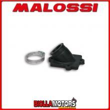 0213661B COLLETTORE ASPIRAZIONE MALOSSI RACING D. 22 - 24,5 AEON MOTOR COBRA 50 2T (AT70) LUNGHEZZA 29 INCLINATO IN FKM -