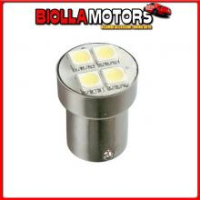 98366 LAMPA 24V HYPER-LED 12 - 4 SMD X 3 CHIPS - (P21W) - BA15S - 1 PZ - SCATOLA - ROSSO - DOPPIA POLARIT?