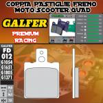 FD012G1651 PASTIGLIE FRENO GALFER PREMIUM POSTERIORI TM 125 GS, MC 86-89
