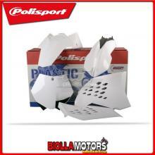 P90128 KIT PLASTICHE CARENE KTM 125 SX 2007-2010 BIANCO POLISPORT