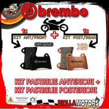 BRPADS-1190 KIT PASTIGLIE FRENO BREMBO SYM GT 2007- 500CC [ORGANIC+XS] ANT + POST
