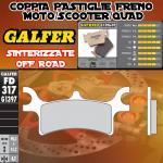 FD317G1397 PASTIGLIE FRENO GALFER SINTERIZZATE POSTERIORI POLARIS MAGNUM 500 All Models 02-