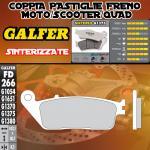 FD266G1375 PASTIGLIE FRENO GALFER SINTERIZZATE ANTERIORI SUZUKI GSX 400 IMPULSE (Japan) 94-98