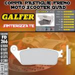 FD266G1375 PASTIGLIE FRENO GALFER SINTERIZZATE ANTERIORI HONDA VT 1100 C2 SHADOW ACE 95-96