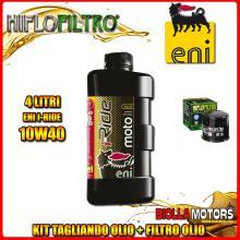 KIT TAGLIANDO 4LT OLIO ENI I-RIDE 10W40 SYNTHETIC TECH APRILIA RSV 1000 RSV4 R 1000CC 2009-2011 + FILTRO OLIO HF138