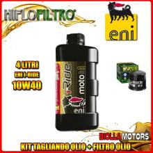 KIT TAGLIANDO 4LT OLIO ENI I-RIDE 10W40 SYNTHETIC TECH SUZUKI AN650 A / Z Burgman Executive 650CC 2004-2016 + FILTRO OLIO HF138