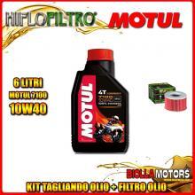KIT TAGLIANDO 6LT OLIO MOTUL 7100 10W40 HONDA TRX500 FGA Fourtrax Foreman Rubicon GPScape 500CC 2004-2008 + FILTRO OLIO HF111