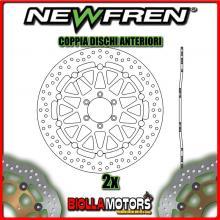 2-DF5152AF COPPIA DISCHI FRENO ANTERIORE NEWFREN LAVERDA SPORT 650cc 1995-2001 FLOTTANTE