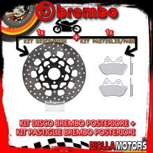 KIT-Z6ME DISCO E PASTIGLIE BREMBO POSTERIORE HARLEY DAVIDSON FXSTB/I NIGHT TRAIN 1450CC 2006- [SP+FLOTTANTE] 78B40828+07HD18SP