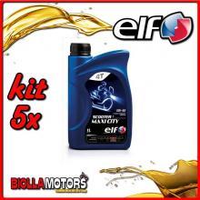 KIT 5X LITRO OLIO ELF SCOOTER 4 MAXI CITY 5W40 - 5x 201740