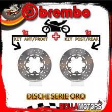 BRDISC-601 KIT DISCHI FRENO BREMBO GILERA KZ 1986- 125CC [ANTERIORE+POSTERIORE] [FISSO/FISSO]