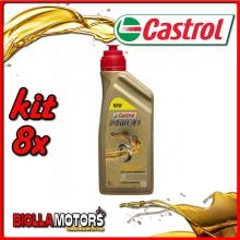 KIT 8X LITRO OLIO CASTROL POWER 1 2T - 8x CA154F7C