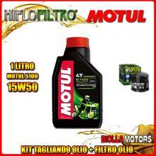 KIT TAGLIANDO 1LT OLIO MOTUL 5100 15W50 GILERA 125 Arcore 125CC - + FILTRO OLIO HF153