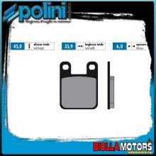 174.0015 PASTIGLIE FRENO POLINI POSTERIORE CH RACING WXE 50 ENDURO 50CC 2005- ORGANICA