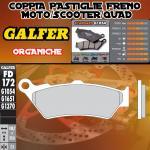 FD172G1054 PASTIGLIE FRENO GALFER ORGANICHE ANTERIORI HONDA NTV 650 DEAUVILLE 98-01