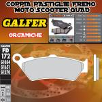 FD172G1054 PASTIGLIE FRENO GALFER ORGANICHE ANTERIORI HUSQVARNA TR 650 STRADA 12-